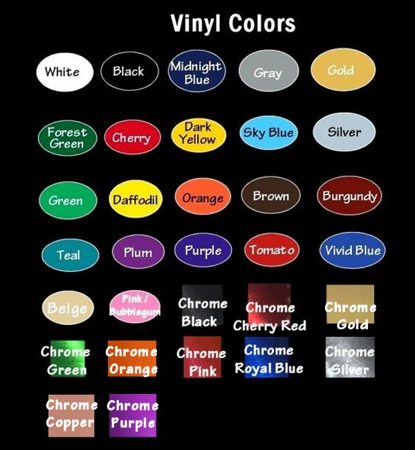 Magnets decals magnets t shirts and more gas pumps for Vinyl lettering colors